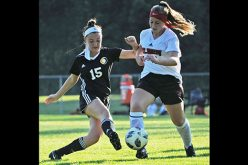 Girls' soccer action