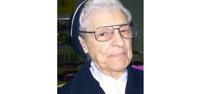 Sister Pietrina Mazzola, who taught in Hammonton, dies