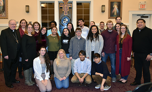 Bishop Sullivan celebrates Mass for Stockton students