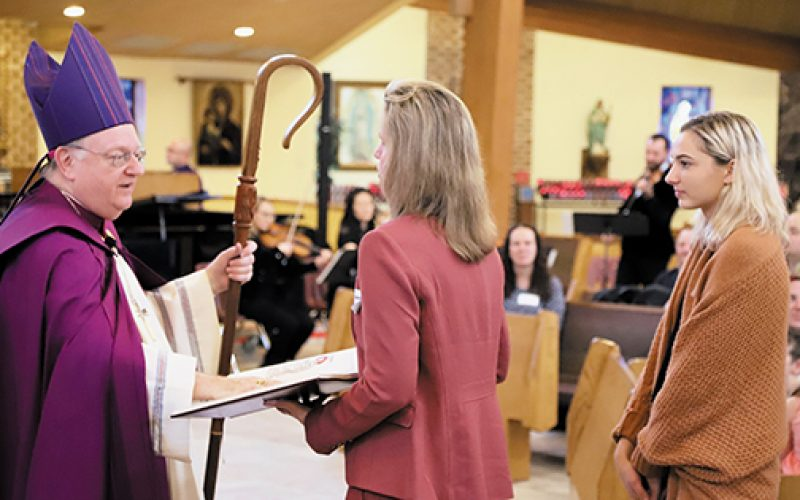 Catechumens affirm their desire to be Catholic