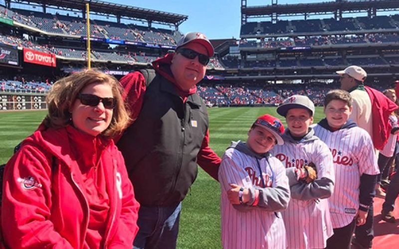 Saint Rose student throws Phils first pitch