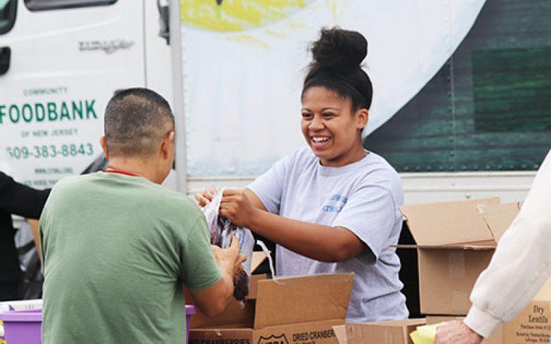 Students volunteer for food distribution efforts