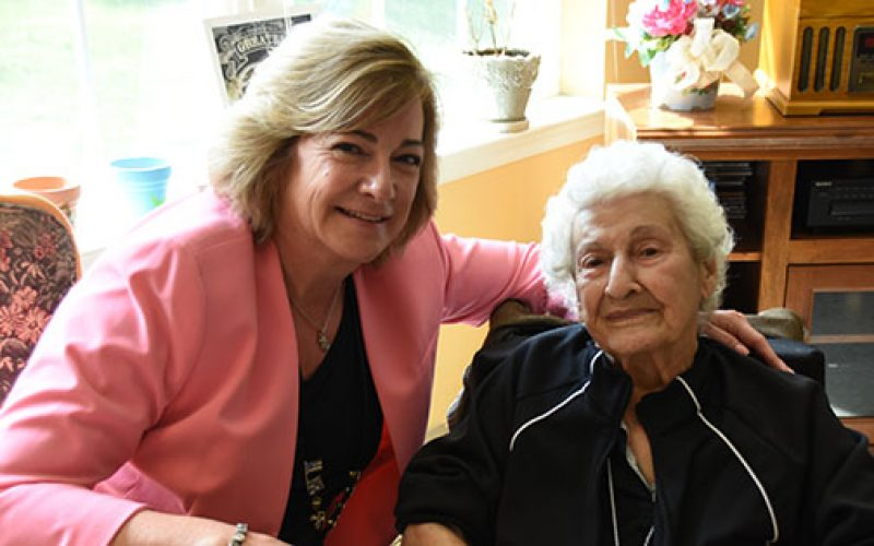 Celebrating a 100th birthday and new friends