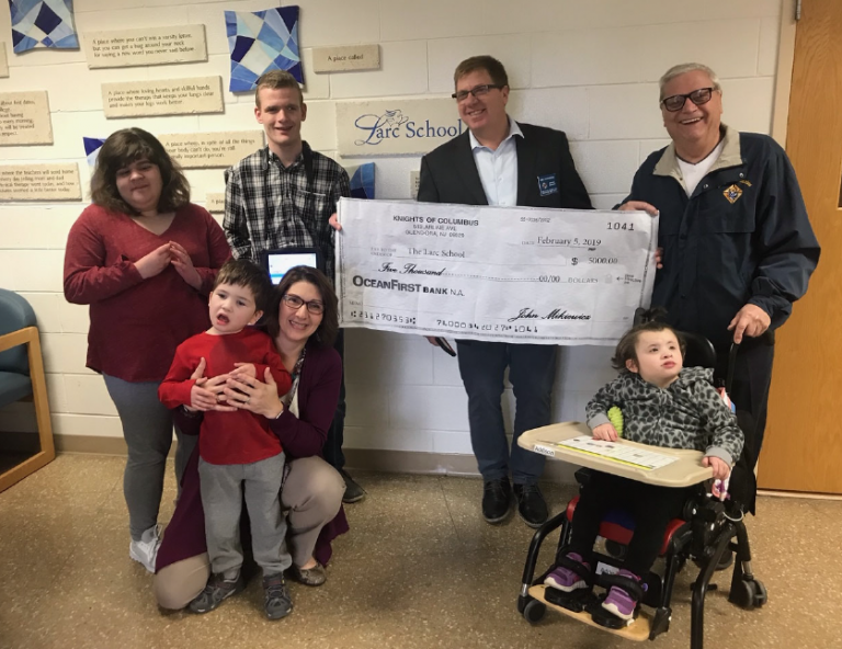 Knights of Columbus Partners         with LARC School
